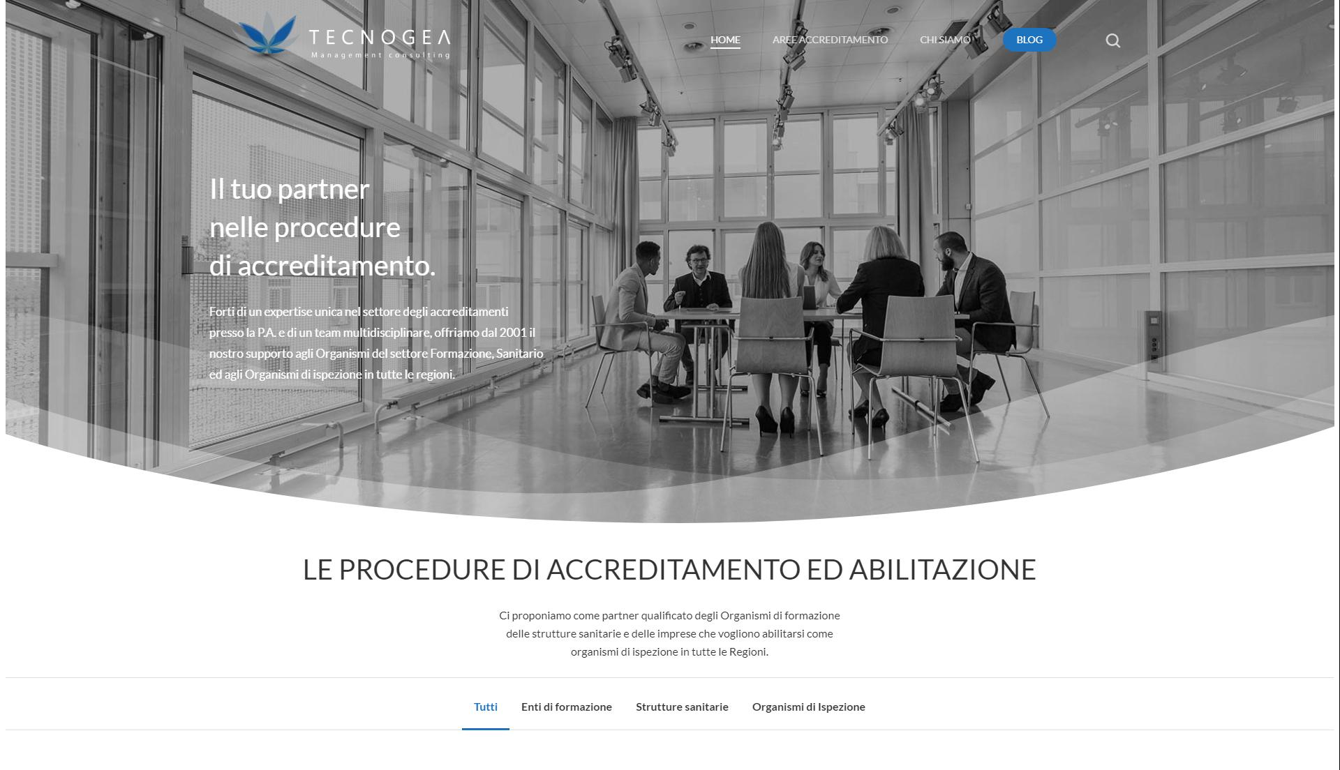 On-line Il Nuovo Portale Di Tecnogea Dedicato Alle Procedure Di Accreditamento