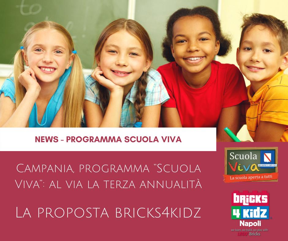 """Al Via La Terza Annualità Di """"Scuola Viva"""" – La Proposta Di Bricks4kidz"""